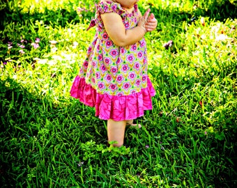 Hannah Dress sizes 6months to - 12 years Pdf Pattern