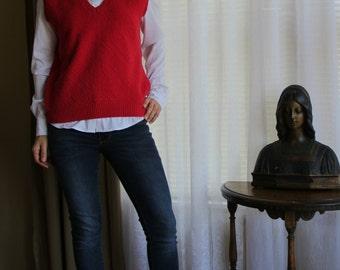 Vintage Pendleton Women's Red Vest, Size S
