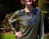 DISCO RAINBOW Sparkly Iridescent Long Shirt or Mini Go-Go Dress