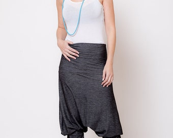 Harem Pants - Aladdin afgani pants, Drop-Crotch pants, women trousers, black jeans   sizes : XS / S / M / L / Xl