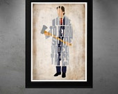 Patrick Bateman, American Psycho Poster  - Minimalist Typography Poster, Movie Poster, Art Print, Illustration, Wall Art