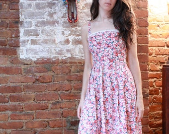 Floral Empire Waist Dress with POCKETS!
