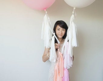 "36"" Balloon Tassels (Set of 2): Customized Colors"