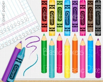 Crayon clipart - Digital Clip Art - Personal and commercial use