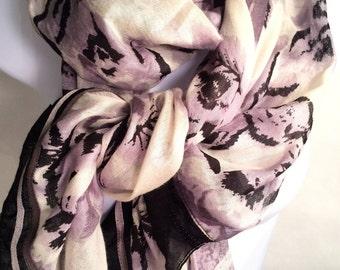 Scarf Dusk to Dawn Purple-Gray Sky Scarf Wrap