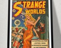 Vintage Sci-Fi Poster, Aliens, Pin-ups, Art Nouveau Poster Print - Quality Reproduction