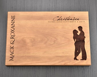 Valentines Day Gift, Personalized Cutting Board, Custom Wedding Gift, Engagement Gift, Anniversary Gift, Housewarming Gift, Hostess Gift