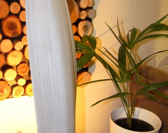 Floor lamp from coconut leaf