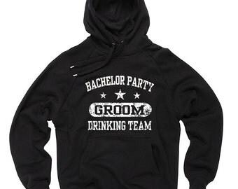 Bachelor Party Groomsman Drinking Team Hoodie Wedding Sweatshirt Hooded Sweater