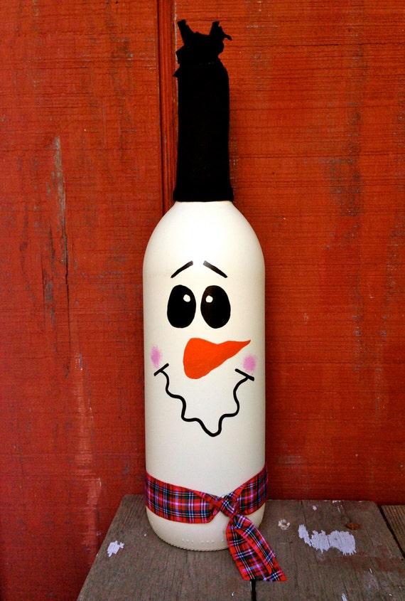 Snowman Wine Bottle Décor / Cute & Classy Holiday Wine Bottle