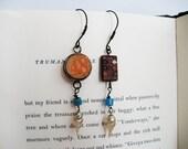 art + industry: assemblage collage found object rustic bohemian boho junk gypsy earrings