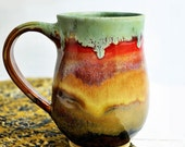 ceramic mug Beer Stein coffee cup tea mug  for him  Autumn Song series