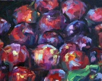 Colorful Plums Art Print