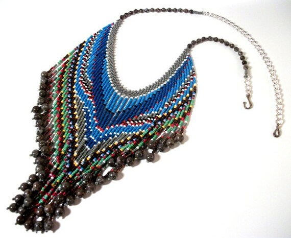 Glass & Stone Beaded Bib Tassel Necklace for Women in Women's Fashion Fun Jewelry Gift Ideas for Her