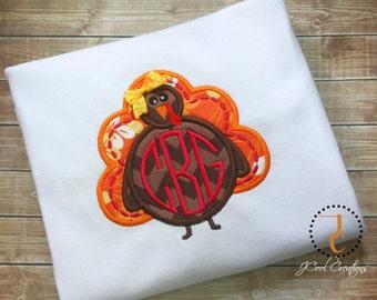 Thanksgiving Shirt, Thanksgiving Dress, Turkey Shirt, Monogram Shirt, Custom Shirt, Thanksgiving Outfit, Coordinating Sibling, Turkey Dress