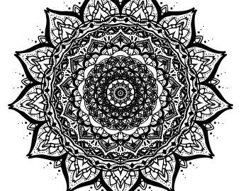 Mandala Print, Mandala Art, Fine Art Print, Modern Fine Art, Digital Drawing, Geometric Art, Pattern Art, Ethnic Art, Art Print, Wall Decor