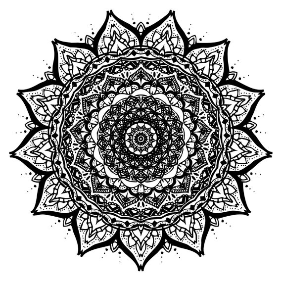 Mandala Imprimer Art Du Tirage DArt Moderne