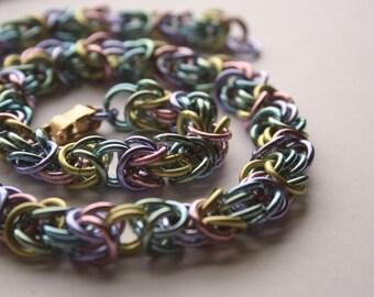 Bracelet Pastel Rainbow Byzantine 7 inches