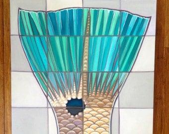 Redfish Tail Mosaic Original oil painting