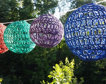 Lantern pattern, Light, garland, picnic party decoration crochet Pattern