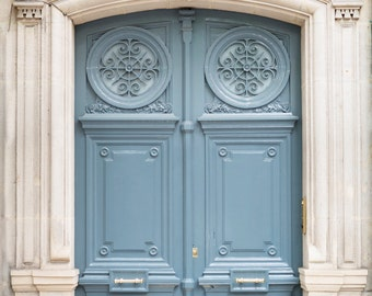 Paris Photography - Paris Blue Door Number 47, Travel Photograph, Paris Architectural Fine Art Print, French Home Decor, Large Wall Art