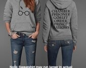 Harry Potter Book Movie Title Inspired Potter Geek Head Unisex Pullover Hoodie
