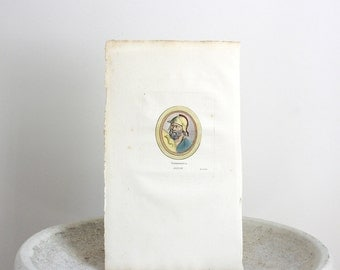 Antique Ulysses Engraving c. 1780 St. Aubin 7 1/2 x 13 1/2 inches