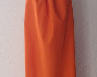 Orange Long Dress