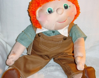 Jett is a Cute 24 Inch Soft Sculpture Doll and So Friendly-Sarah Originals Dolls