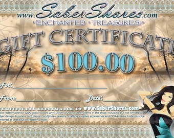 www.SaberShores.com SHOP GIFT CERTIFICATE