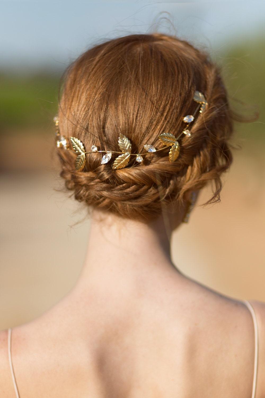Bridal Hair Accessories Leaf Wedding Crown Wedding Bridal
