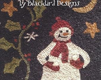 SALE - Blackbird Designs - First Snowfall - Rug Hooking Pattern Booklet - Barb Adams and Alma Allen