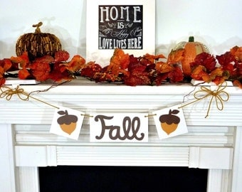 Thanksgiving Decorations Banner - Fall themed Banner Acorns - Thanksgiving / Fall Decorations - Holiday Decorations - Thanksgiving Day