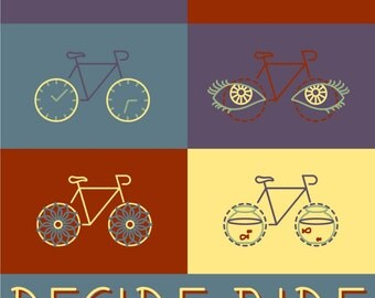 Decide to Ride! Bike Month Print