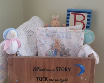 Wooden toy box etsy book box book baby shower nursery decor new baby gift moon and negle Images