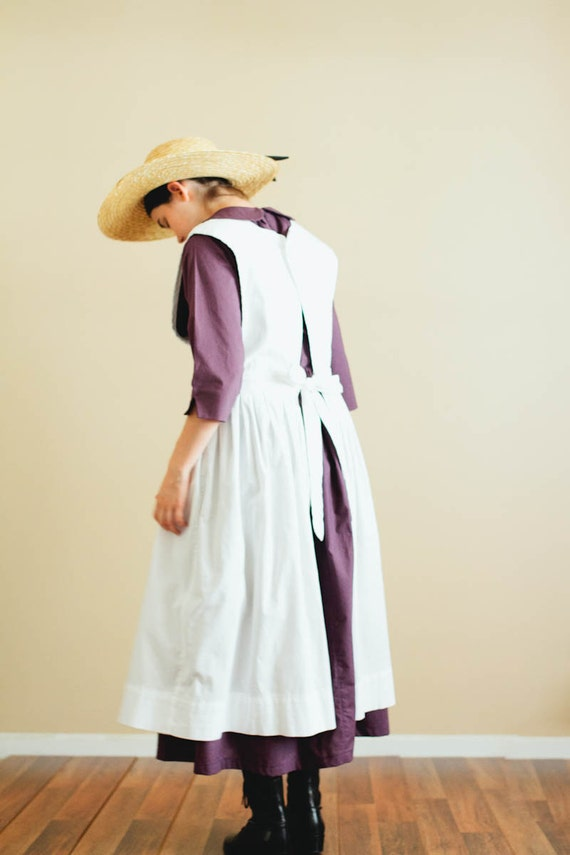 Provide Your Fabric - Full Plain Apron - Made to Measure Apron - Apron Amish Apron Mennonite Quaker Plain Dress Full Apron Prairie Apron