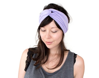Turban Headband // Turband // Hair Wrap // Twist Headband // Fabric Hairband // Fashion Turban // Lilac