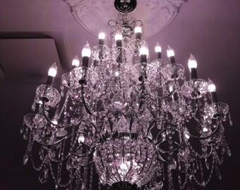 Chandelier Photography, Dreamy Sparkling Purple Crystal Chandelier, Paris Chandelier, Baby Girl Room Decor Purple Chandelier, Chandelier Art