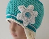 Frozen Inspired Elsa Snow Queen Hat with Braid, Toddler and Girl Sizes, Girl Crochet Elsa Hat, Let It Go - 75