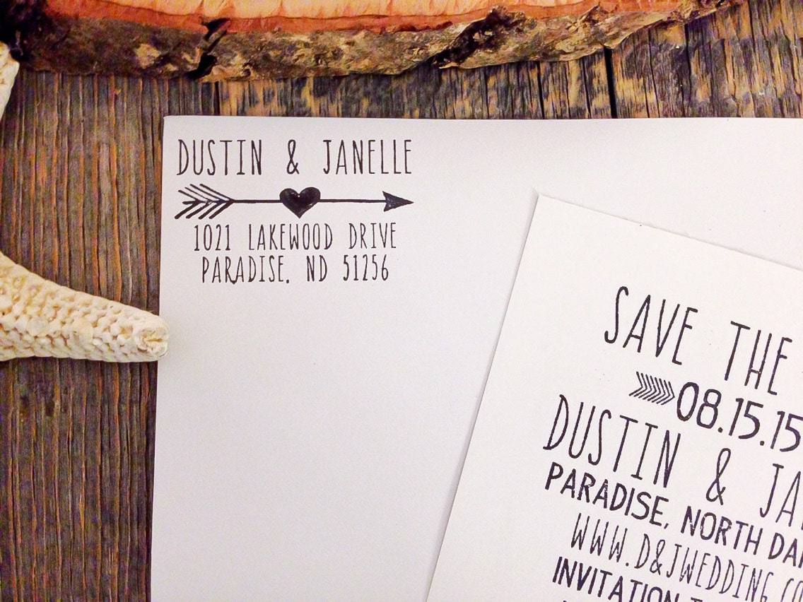 Wedding Invite Stamp: Return Address Stamp Wedding Invitation Stamp Personalized