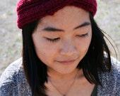 Hand Knit Unique Soft Boho Chunky Stretchy Turban Twist Knot Wrap Headband Hair Accessory