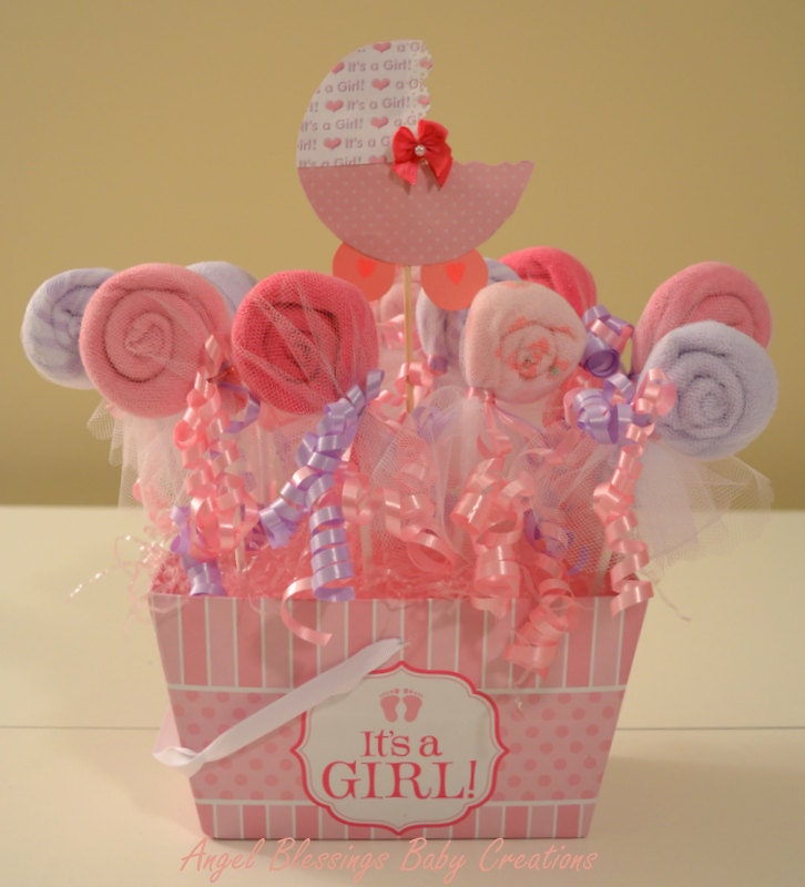 baby shower centerpieces washcloth lollipop favors it 39 s a