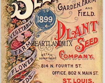 Vintage St. Louis Seeds seed catalog vintage digital image