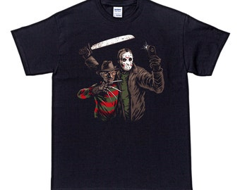 BFF Freddy Jason Selfie Horror T Shirt