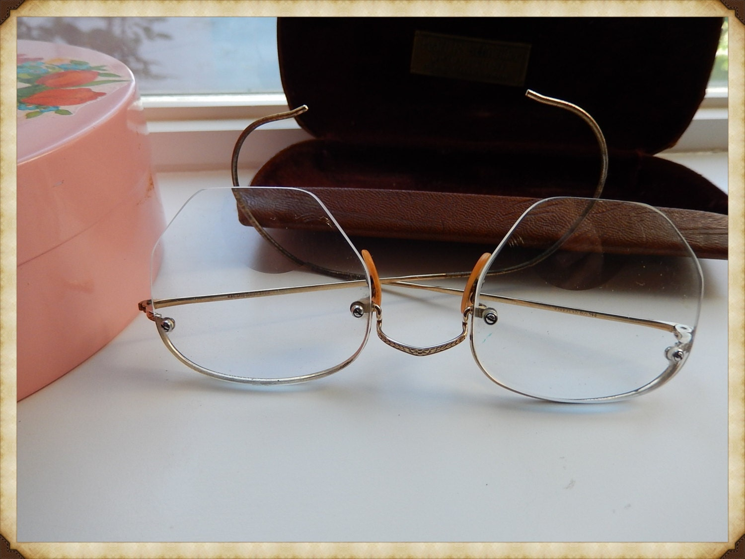 Wire Frame Glasses Vintage : Vintage glasses 10k Gold Filled Wire Frame by ...
