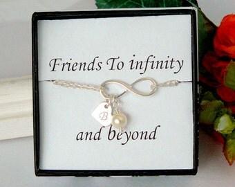 Best Friends Forever Bracelet, Friendship Bracelets, Infinite Friendship, Infinity Bracelets, Personalized, Graduation Gift, Infiniti, BFF