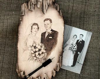 Pyrography Portrait Art on wood burning art wood burner pet memorials wedding images bridal pics wedding pics memorial photos