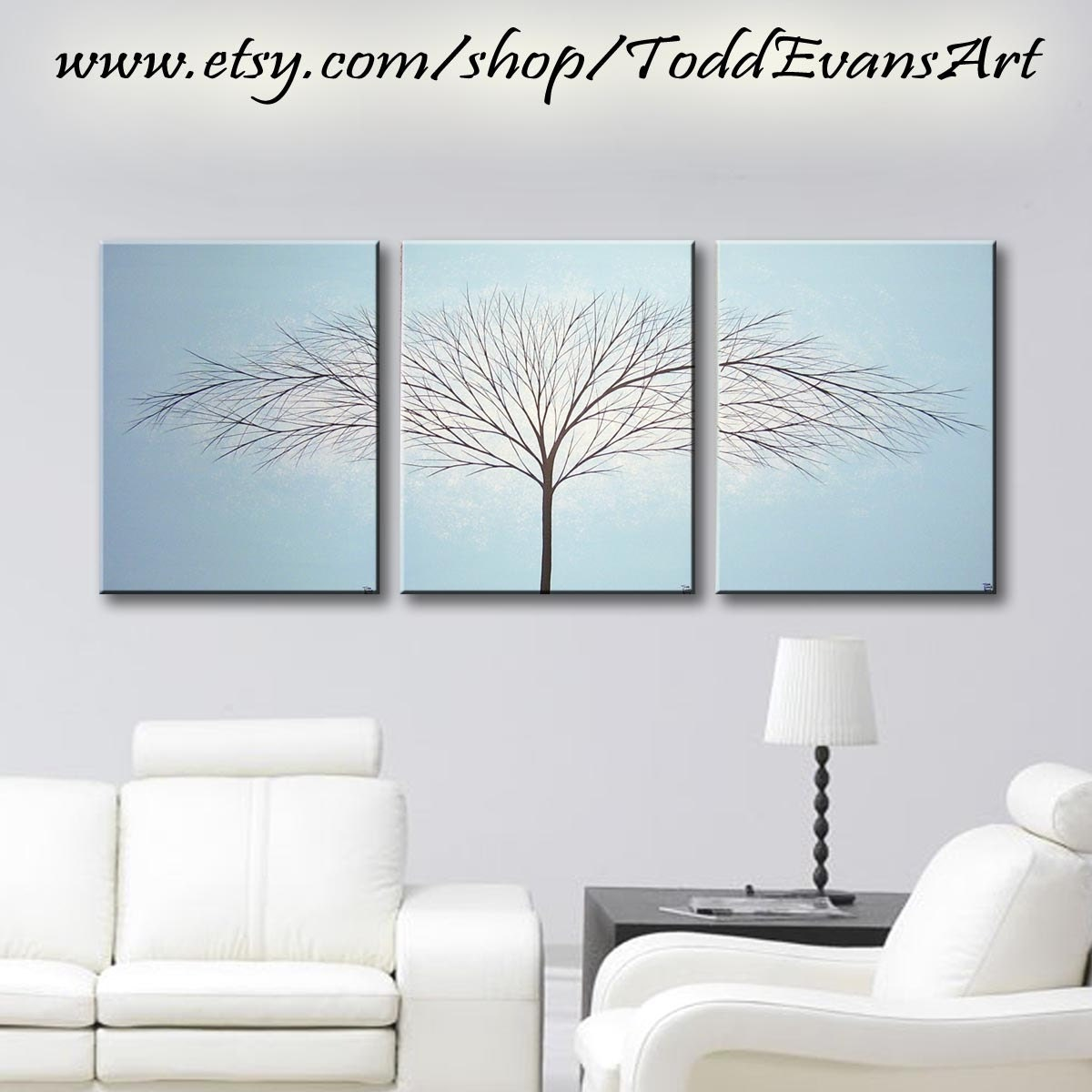 Blue Canvas Wall Art large wall art canvas art painting tree of life wall decor
