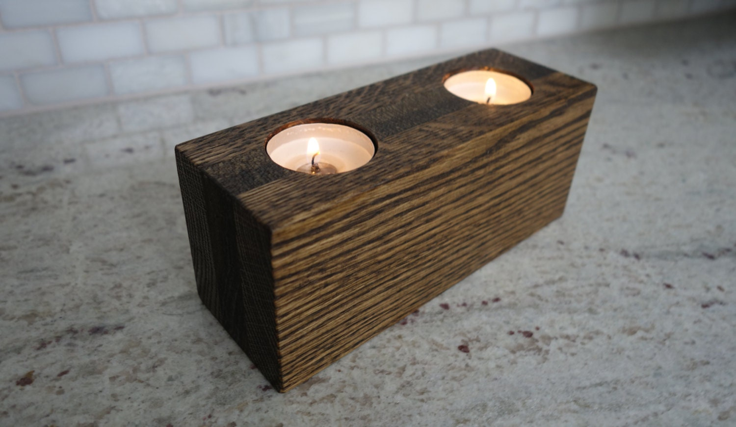 Handmade Wood Tea Light Candle Holder By Cpcustomwoodworking