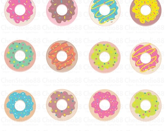 Donut vector - Digital Clipart - Instant Download - EPS, PNG files included